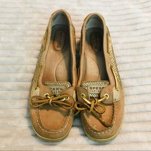 Sperry Top Sider Angelfish Gold Mermaid Glitter